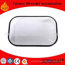 Sunboat Enamel Rectangulare Tray / Enamel Butter Tray
