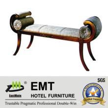Taburete lateral único de la cama de los muebles del dormitorio del hotel de diseño (EMT-BS04)