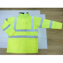 Light Weight High Visibility Rain Jacket Made of Polyester Oxford