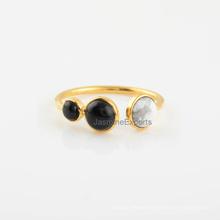 Onyx Multi Stone 925 Sterling Silver Ring Wholesale Supplier
