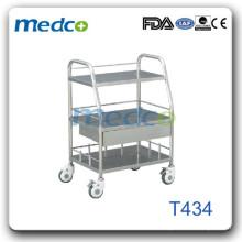 Chariot à instruments médicaux en acier T434