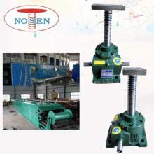 Mechanical gear transmission screw jack lifting system