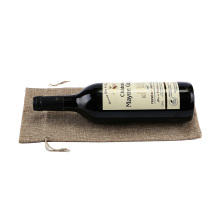 china factory Price High Quality reusable eco friendly supermarket single linen jute wine bottle tote bag
