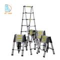 Escalera telescópica multifuncional de aluminio 5.0M, peldaño EN131 SGS CE