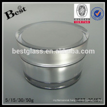 5/15/30/50g silver round shaped screw acrylic jar with lid,cream jar for sale,personal care face care cosmetic packaging jar