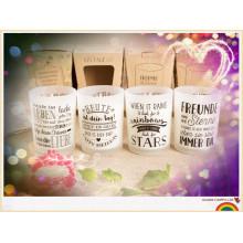 Parfum OEM Design verre Jar parfumée Bougie de soja en gros