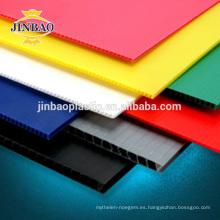 JINBAO colorida protección del suelo plástico pp techo hoja 12 mm