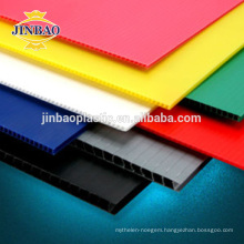 JINBAO colorful floor protection plastic pp roofing sheet 12mm