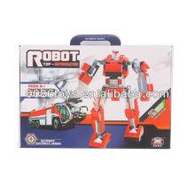 Rojo y blanco robot de construcción de bloques de construcción