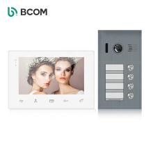 2 wire multi apartments building intelligent intercom system doorbell , dual way video intercom campainha porteiro monitor set
