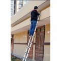 3.2m telescopic loft ladder aluminium with frame