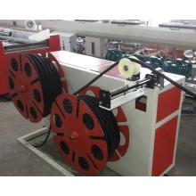 Linha de produção ondulada da tubulação da única parede do PVC da venda da fábrica