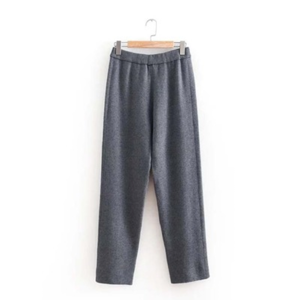 Wide Leg Knit Crop Pants