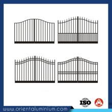 Projeto de portão quadrado de alumínio