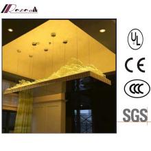 Hotel Lobby Decorative Rectangle Glass Tube Chandelier
