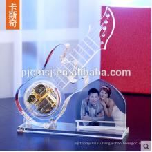 Модель Кристалл Стеклянная Гитара С Фоторамки Для Свадебные Сувениры Подарок
