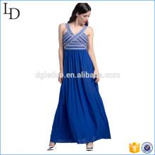 Einteiliges Partykleid des eleganten blauen langen Kleiddesigners