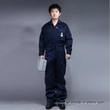 65% Polyester 35% Baumwolle Reißverschluss vorne Langarm Sicherheit Arbeitskleidung (BLY1015)