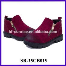 Designer rubber leather shoe boot