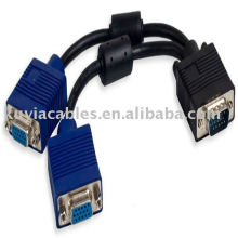 VGA Splitter Cable 1 in 2 out For Computer Desktop