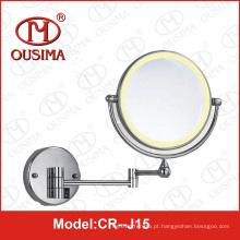 Espelho de maquiagem dobrável redonda de parede dupla face