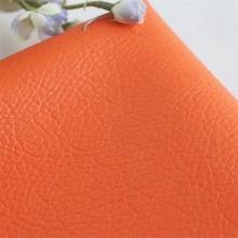 Cuero sintético de litchi grano PU para asiento de silla