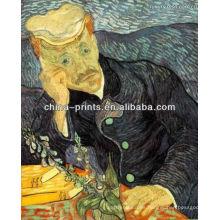 Pintura al óleo famosa del retrato de Van Gogh en lona
