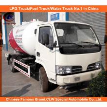 Cisterna 5tons do gás da estrada do Bobtail de LPG de Dongfeng 10cbm para a venda