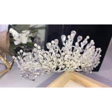 New Handmade Crystal Rhinestone Vine Pearl Princess Crowns Wedding  Bridal Tiara  crowns and veils