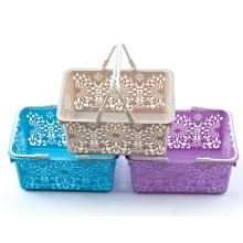 Fashion Design Plastic Storage Shopping Basket (6415)