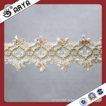 Kleidung Dekorative weiße Braid Gimp Lace Zubehör Textilien