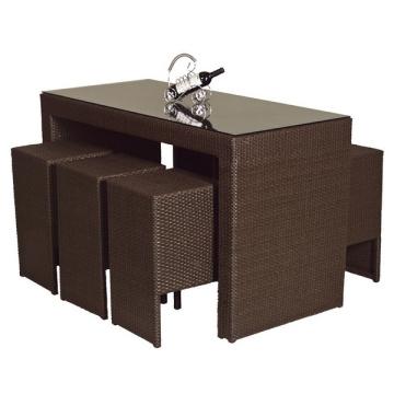 Rattan Peddigrohr Terrassengarten Möbel Outdoor-Bar Stuhl Set