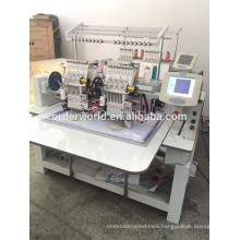 computerized embroidery 2 head embroidery machine with high quality factory price