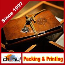 Caderno de couro PU para diário, diário de viagem e nota (520064)