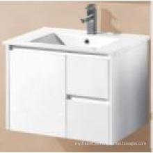 Gabinete de baño de pared de MDF de brillo blanco de los accesorios sanitarios (UV8027-750W)
