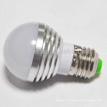 Fabrication de la Chine 3W 3leds e27 round shap LED bulb