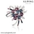 00049 Xuping bouquets de casamento romântico com broche, cristais de luxo da Swarovski