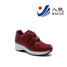 Mulheres moda casual tênis de corrida plana (bfj4202)