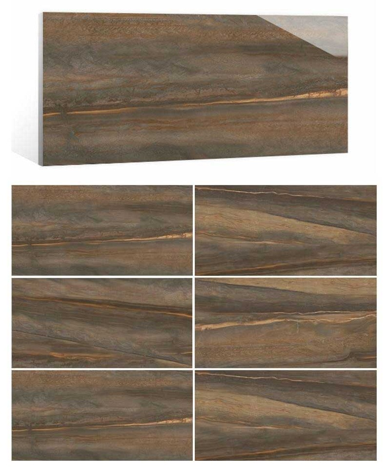 brown marble look tiles