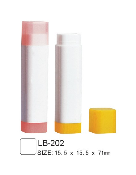 square lip balm tube