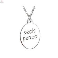 2017 neue Ankunft suchen Frieden Platte Kette Halskette für Anhänger