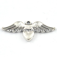 Wing shape charms and pendant