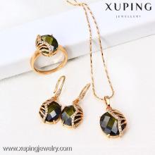 61418-Xuping Moda Mulher Jewlery Set com Banhado a Ouro 18K