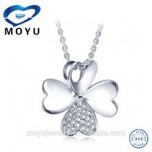 Оптовые ювелирные изделия 925 стерлингового серебра кристаллические привесные ожерелья цепи NEW