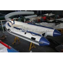 RIB360 barco inflável de casco rígido de fibra de vidro