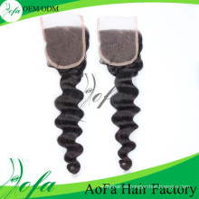 Peluca del pelo indio sin procesar 7A / del pelo virginal / del pelo humano / peluca del cierre de Lcae
