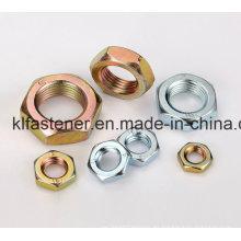 Fabricante de tuerca fina hexagonal DIN439 con alta calidad