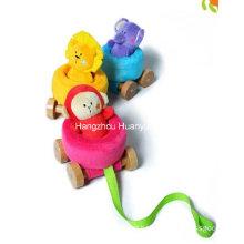 Fábrica de fornecimento de pelúcia bebê puxando carro brinquedo