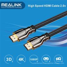 Le câble HDMI 2.0 avec plaqué or prend en charge Ethernet 2160p 18gbps, 3D 1.4 4k