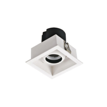 Downlight LED carré blanc chaud 12W